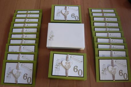 Karten · Diamantene Hochzeit (8)   Stempelzauberei, Einladungs