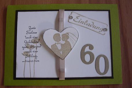 Karten · Diamantene Hochzeit (8) - Stempelzauberei